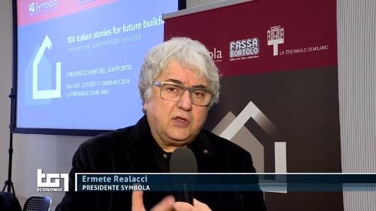 Ermete Realacci al TG1 sull'edilizia del futuro raccontata nella ricerca con Fassa Bortolo