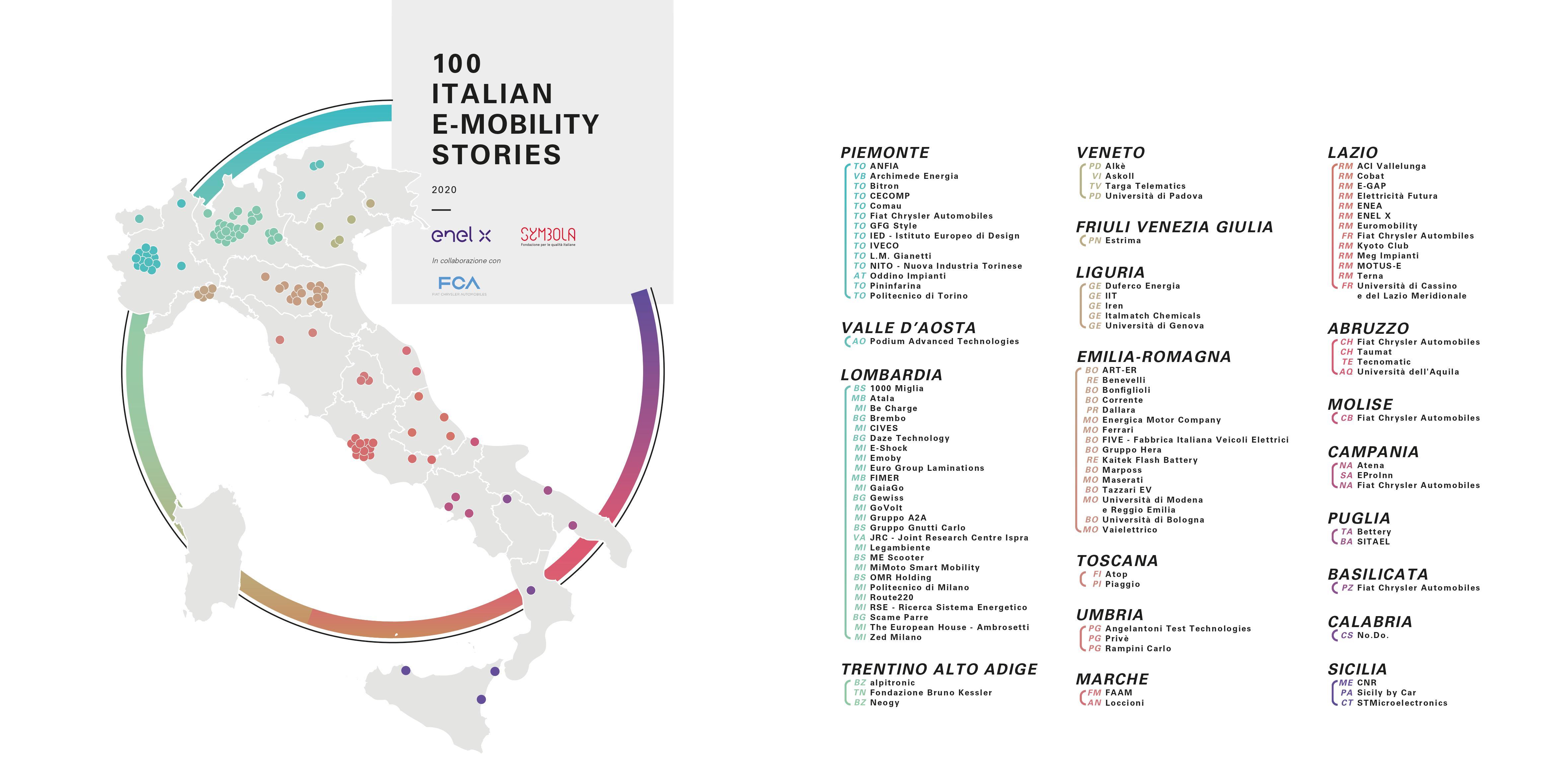 100 ITALIAN E-MOBILITY STORIES: la mappa delle storie della ricerca sulla mobilità elettrica
