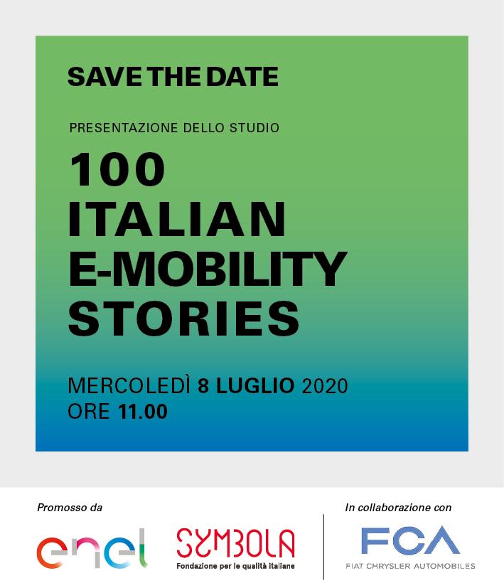 """Presentazione ricerca """"100 Italian E-mobility Stories 2020"""". L'8 luglio alle 11"""