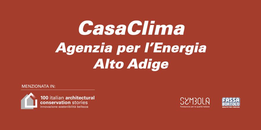 CasaClima – Agenzia per l'Energia Alto Adige
