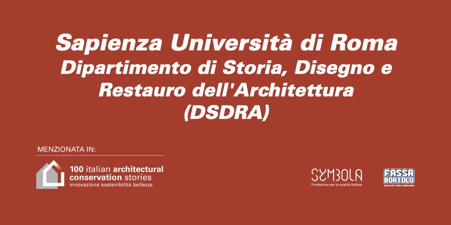 Sapienza Università di Roma   Dipartimento di Storia, Disegno e Restauro dell'Architettura (DSDRA)