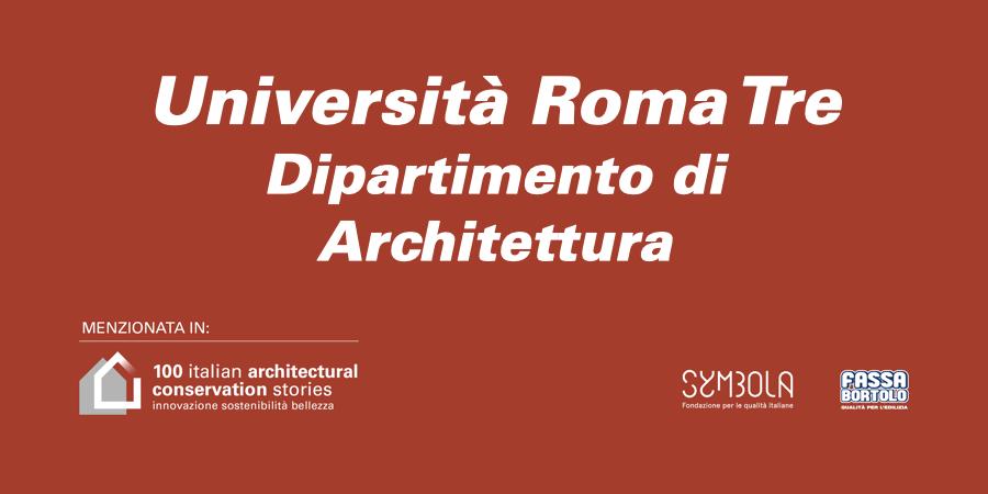 Università Roma Tre   Dipartimento di Architettura