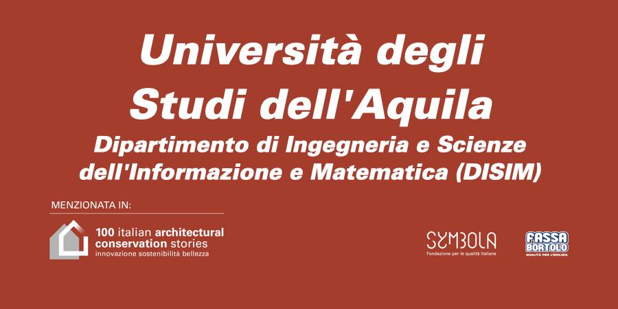 Università degli Studi dell'Aquila   Dipartimento di Ingegneria e Scienze dell'Informazione e Matematica (DISIM)