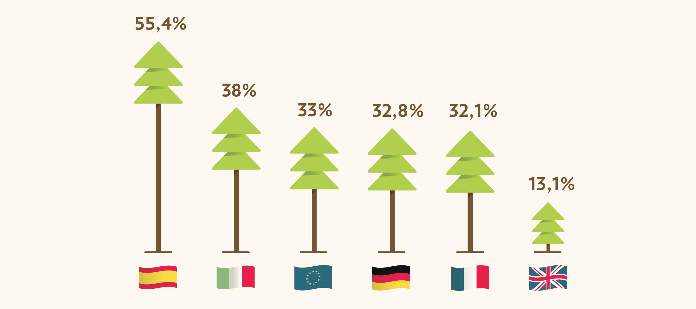 Italia seconda in Europa per copertura forestale
