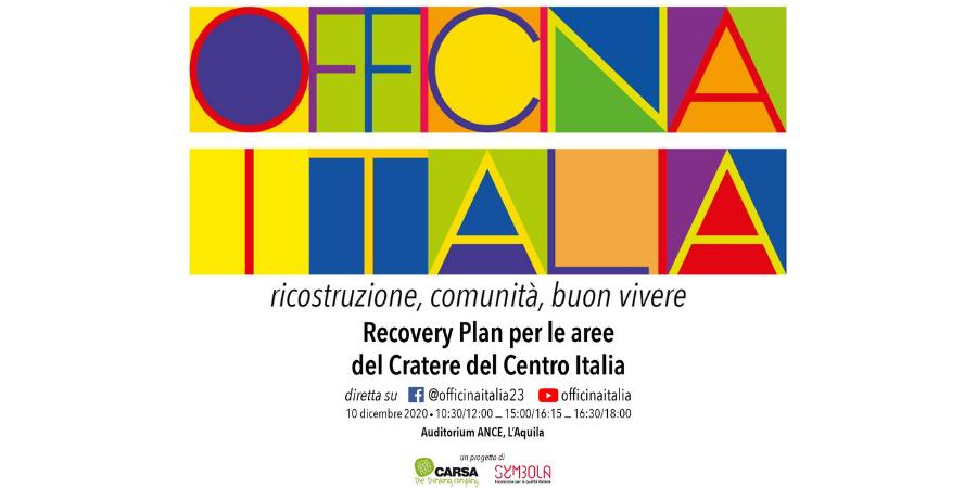 """Il """"buon vivere"""" di Officina Italia e la spinta verso il Recovery Fund"""